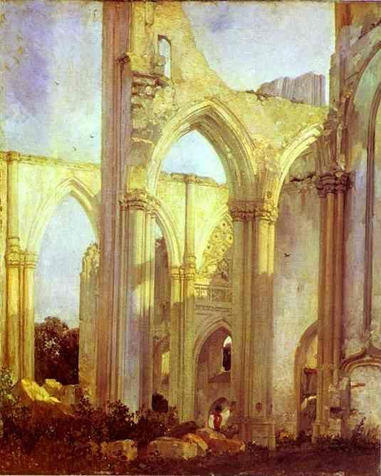 Richard Parkes Bonington. Abbey of St. Berlin, near St. Omer.