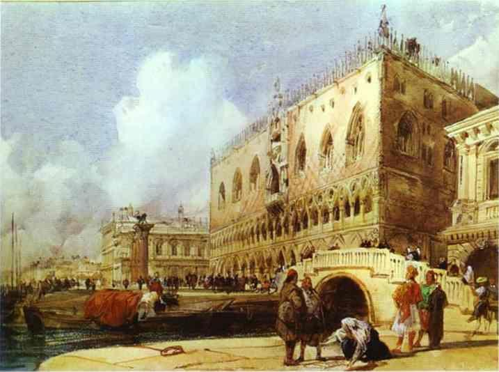 Richard Parkes Bonington. The Doge's Palace, Venice.