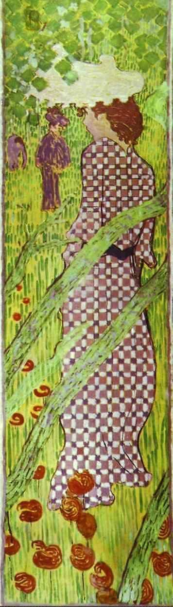 Pierre Bonnard. Woman in a Checked Dress.