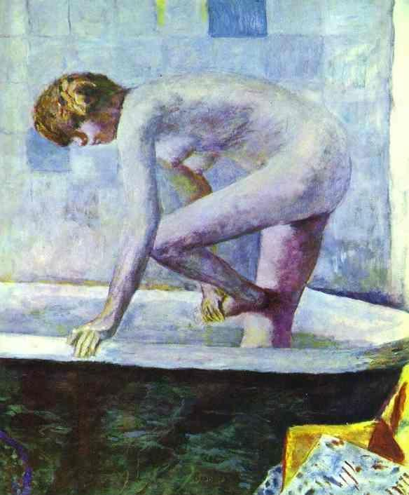 Pierre Bonnard. Nude Washing Feet in a Bathtub.