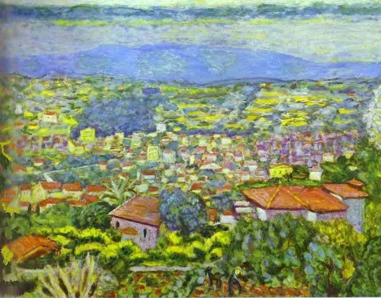 Pierre Bonnard. View of Le Cannet, Roofs.