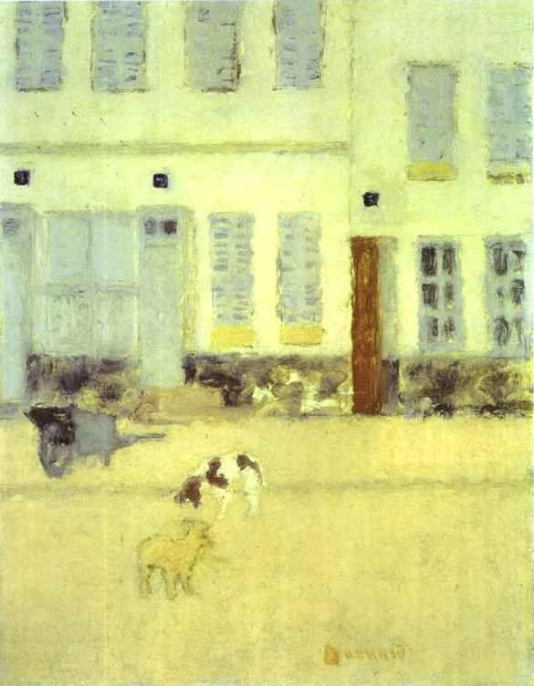 Pierre Bonnard. Street in Eragny-sur-Oise or Dogs in Eragny.