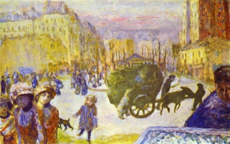 Pierre Bonnard. Morning in Paris.