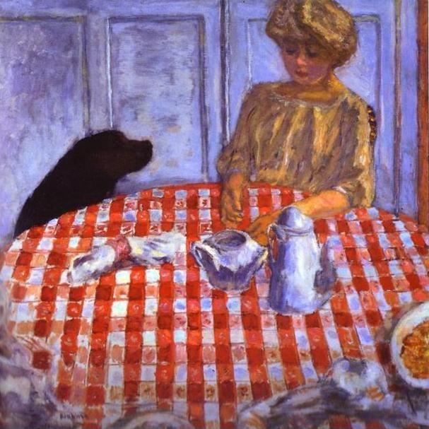 Pierre Bonnard. The Red-Checkered Tablecloth.