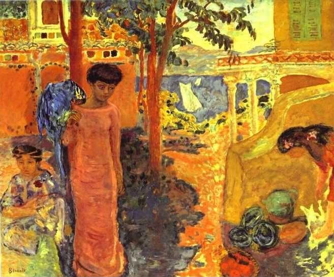Pierre Bonnard. Girl with Parrot.