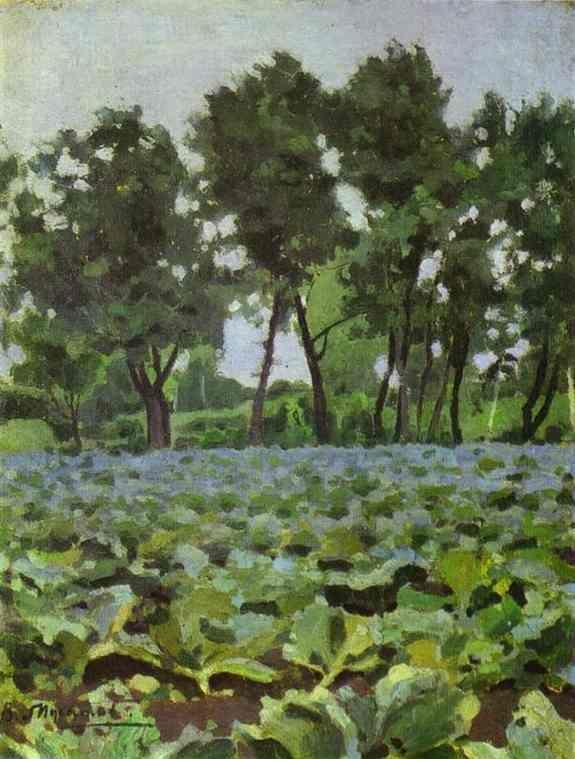 Victor Borisov-Musatov. Cabbage Field with Willows.