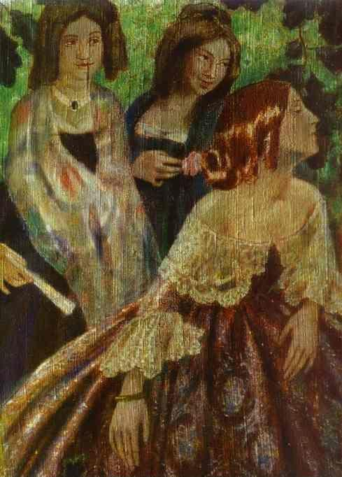 Victor Borisov-Musatov. The Emerald Necklace. Detail.