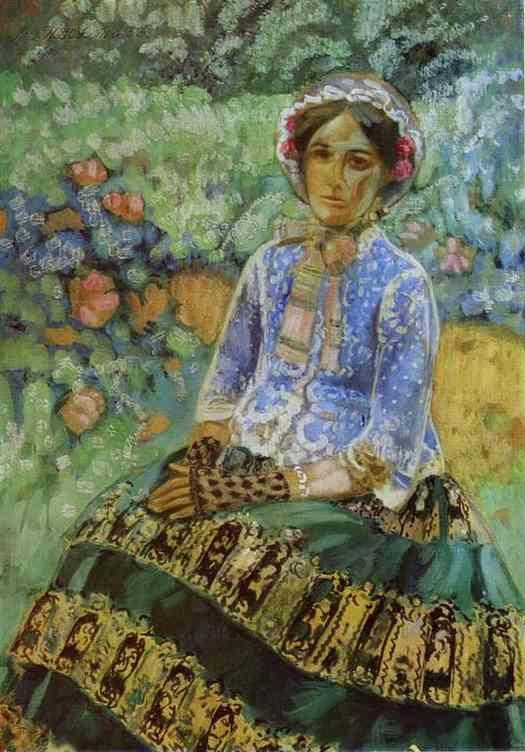 Victor Borisov-Musatov. Woman in Blue.