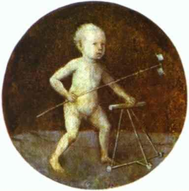 Hieronymus Bosch. Christ Child with a Walking-Frame.