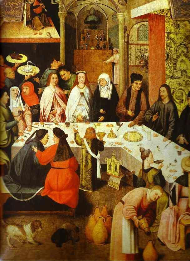 Hieronymus Bosch. Marriage Feast at Cana.
