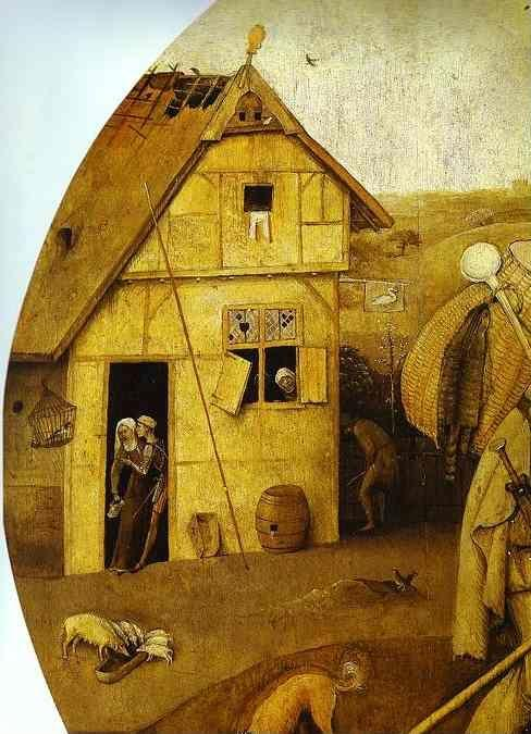 Hieronymus Bosch. The House of Ill Fame. Detail.