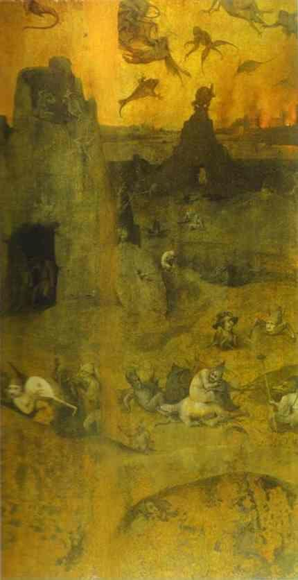 Hieronymus Bosch. Fall of the Rebel Angels.