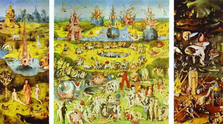 Hieronymus Bosch. Garden of Earthly Delights (Triptych).