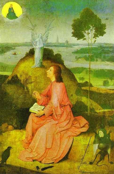 Hieronymus Bosch. St. John the Evangelist on Patmos.