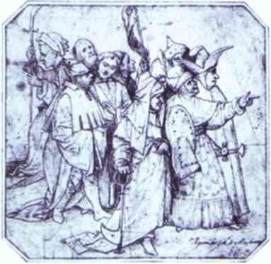 Hieronymus Bosch. Group of Male Figures.