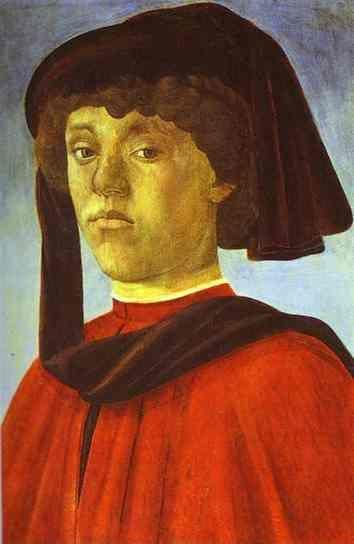 Alessandro Botticelli. Portrait of a Young Man.