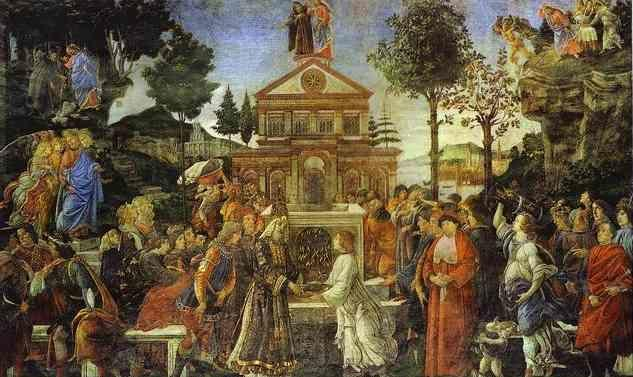 Alessandro Botticelli. The Temptation of Christ.