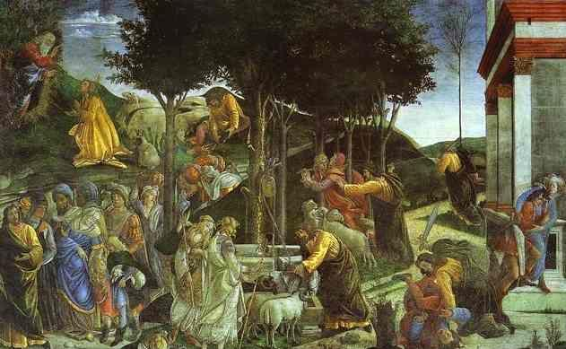 Alessandro Botticelli. Scenes from the Life of Moses.