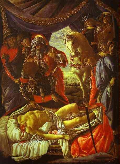 Alessandro Botticelli. Discovery of the Body of Holofernes.