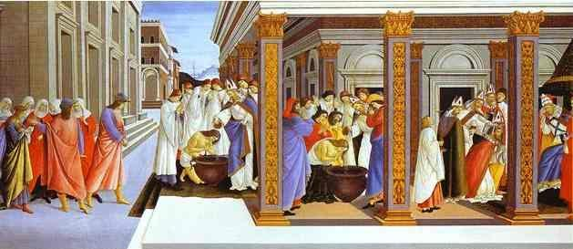 Alessandro Botticelli. Life and Works of St. Zenobius.