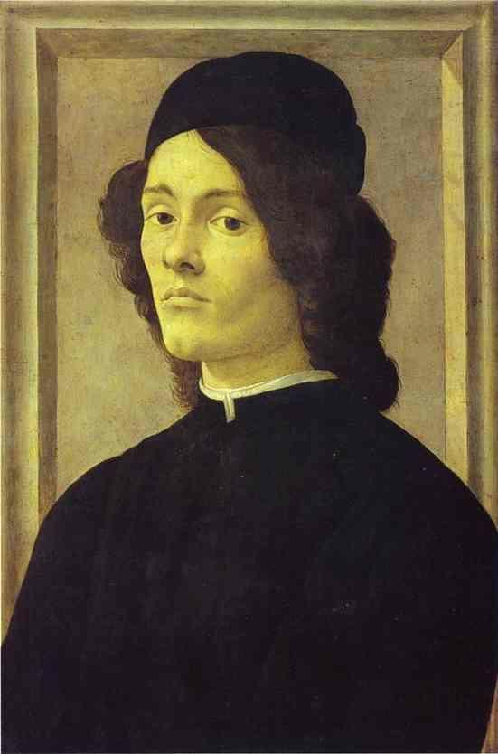 Alessandro Botticelli. Portrait of a Man.
