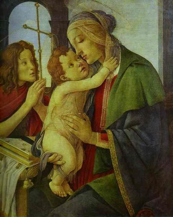 Alessandro Botticelli. The Virgin and Child with the Infant St. John.