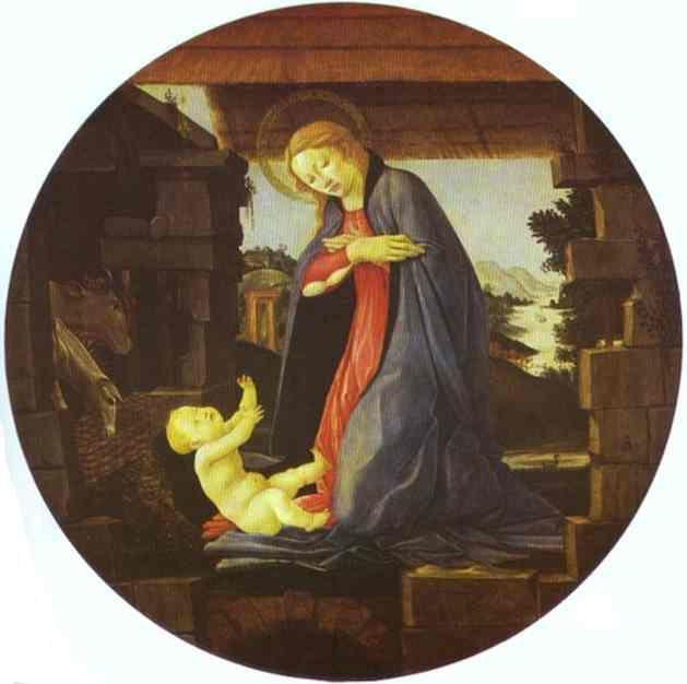 Alessandro Botticelli. The Virgin Adoring the Child.