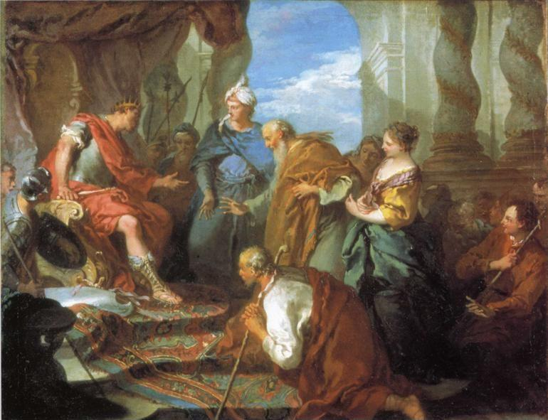 François Boucher. Joseph Presenting his Father and Brothers to Pharaoh.