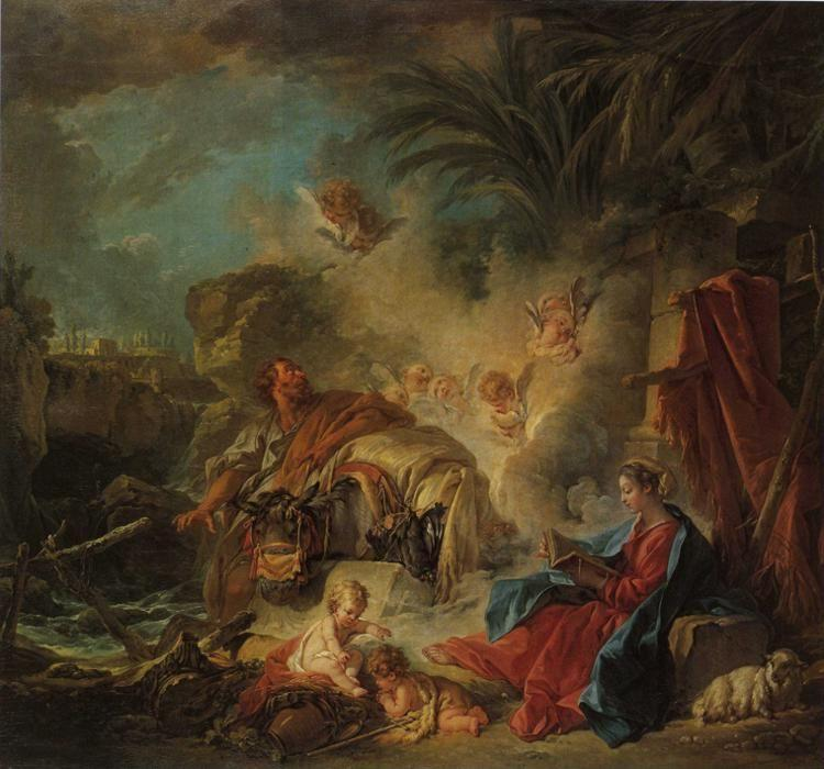 François Boucher. Rest on the Flight to Egypt.