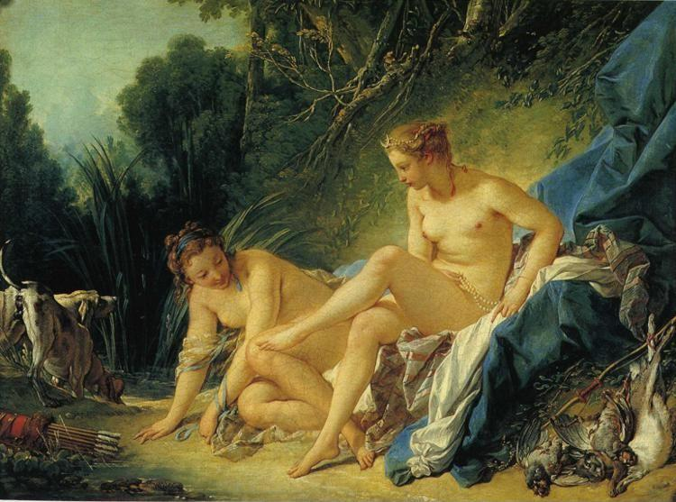 François Boucher. Diana Leaving Her Bath.
