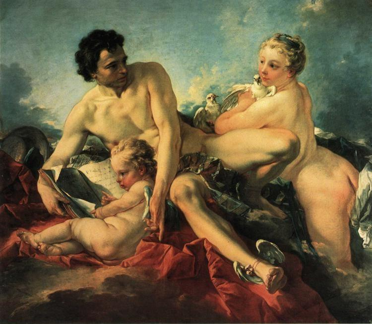 François Boucher. The Education of Cupid.