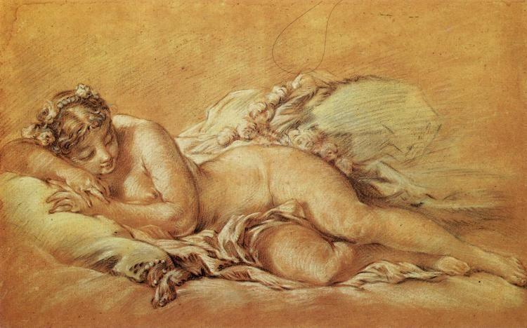 François Boucher. Young Woman Sleeping.