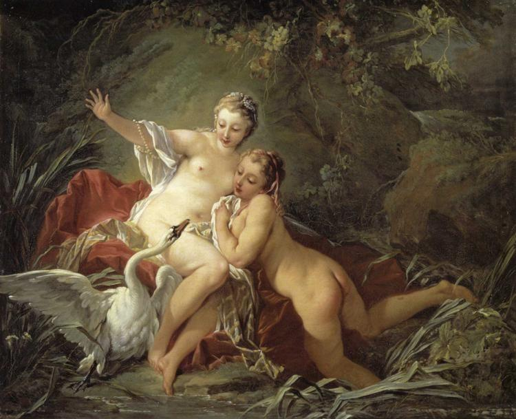 François Boucher. Leda and the Swan.