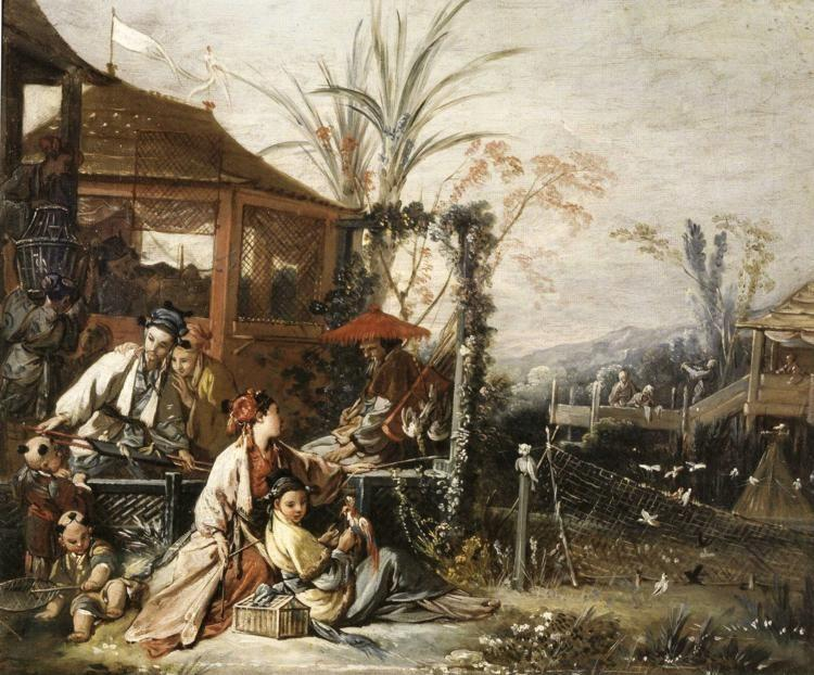 François Boucher. Chinese Hunting.