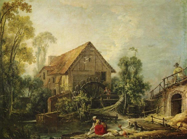 François Boucher. The Watermill.