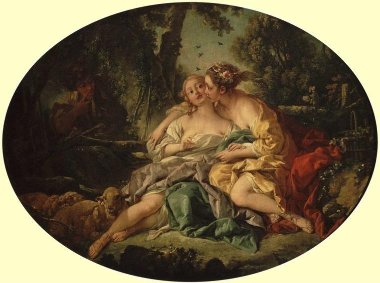 François Boucher. Sylvia Cures Phyllis of a Bee-Sting.
