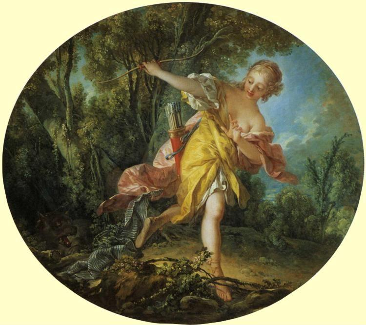 François Boucher. Sylvia and the Wolf.