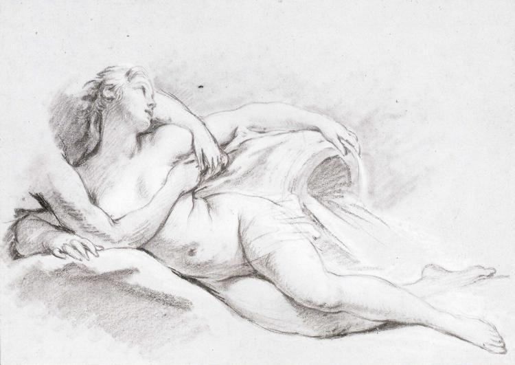 François Boucher. A Nymph.