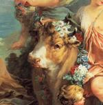 François Boucher. Rape of Europa. Detail.