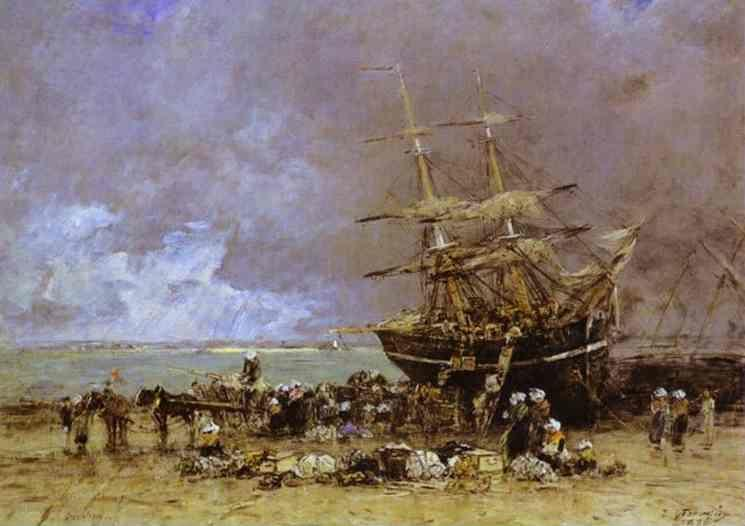 Eugène-Louis Boudin. Return of the Terre-Neuvier.