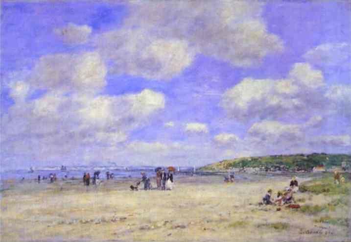 Eugène-Louis Boudin. The Beach at Tourgéville-les-Sablons.