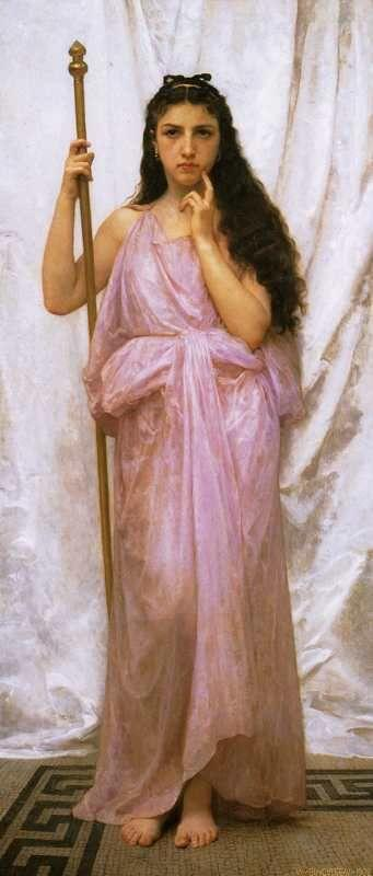 William-Adolphe Bouguereau. Young Priestess.