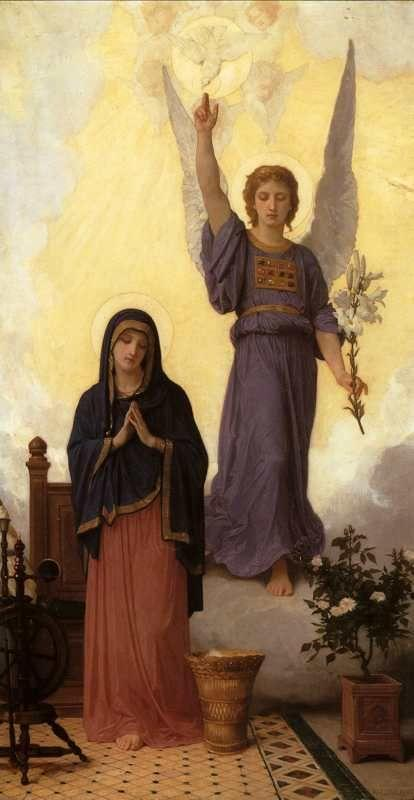 William-Adolphe Bouguereau. The Annunciation.