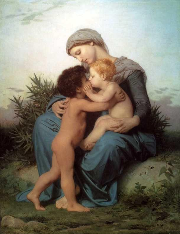 William-Adolphe Bouguereau. Fraternal Love.