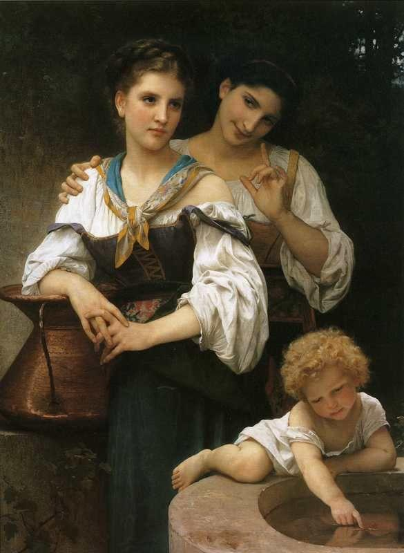William-Adolphe Bouguereau. The Secret.