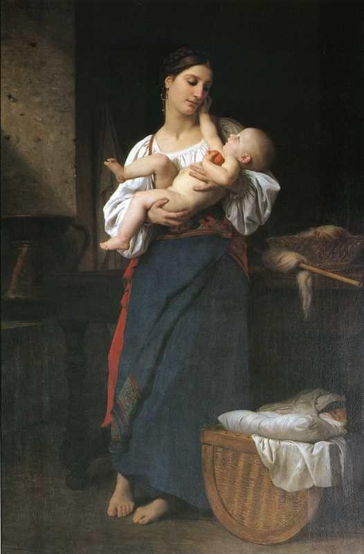 William-Adolphe Bouguereau. First Caresses.