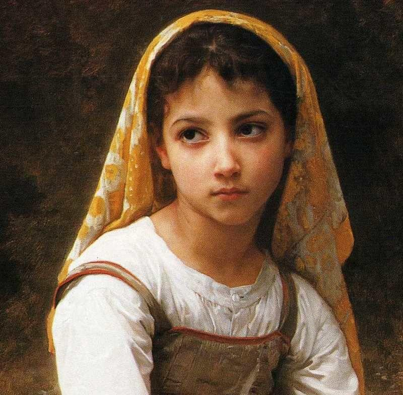 William-Adolphe Bouguereau. Meditation. Detail.