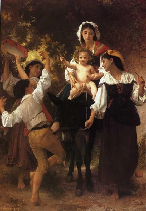 William-Adolphe Bouguereau. Return from the Harvest.