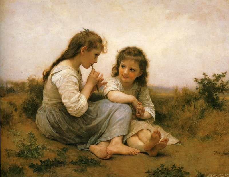 William-Adolphe Bouguereau. Childhood Idyll.