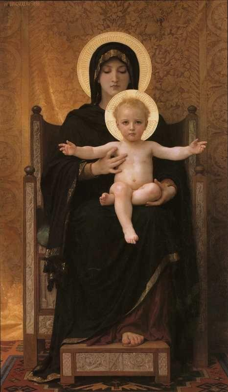 William-Adolphe Bouguereau. Virgin and Child.